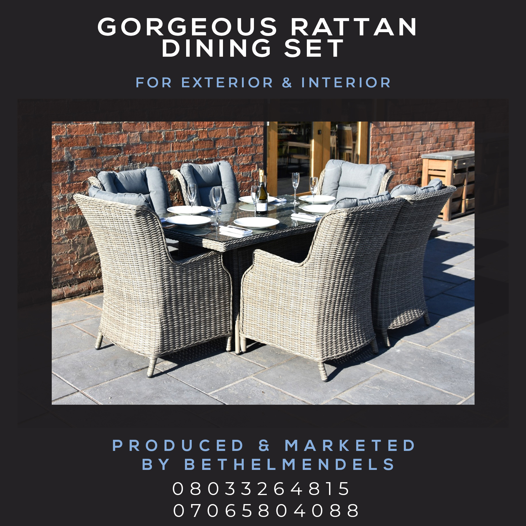 Gorgeous Rattan Dining Set Furnitures