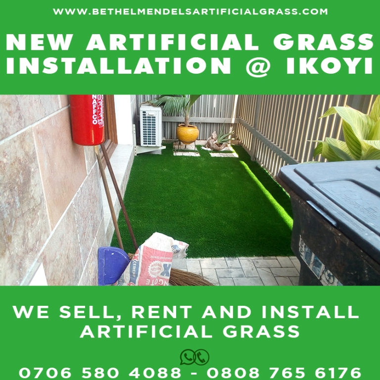 Artificial Grass Installation at the balcony