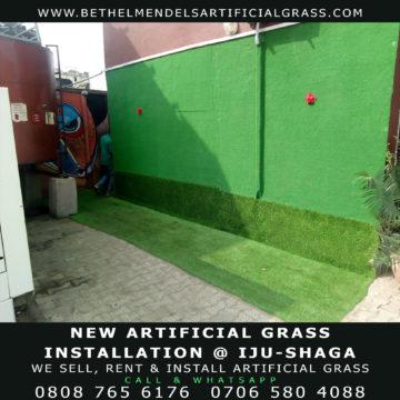Artificial Grass Installation on walls