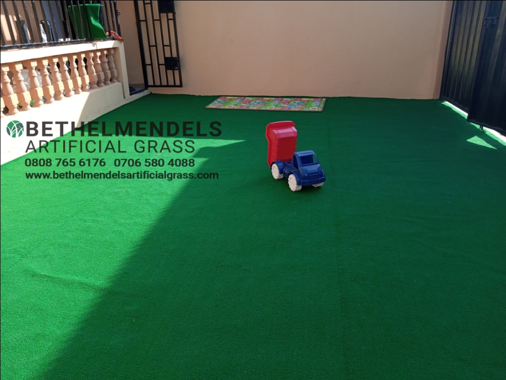 New Artificial Grass Installation at Oko-oba, Lagos.